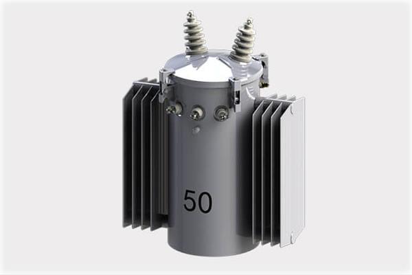 Transformadores monofásicos con radiador de montaje