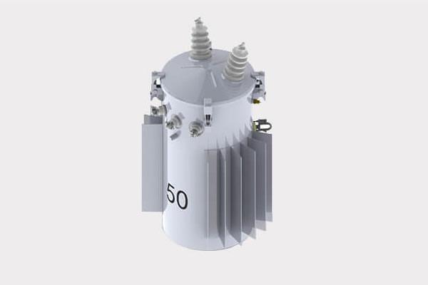 50kVA Transformador de distribución montado en poste sumergido en aceite convencional 13.2/7.62kV